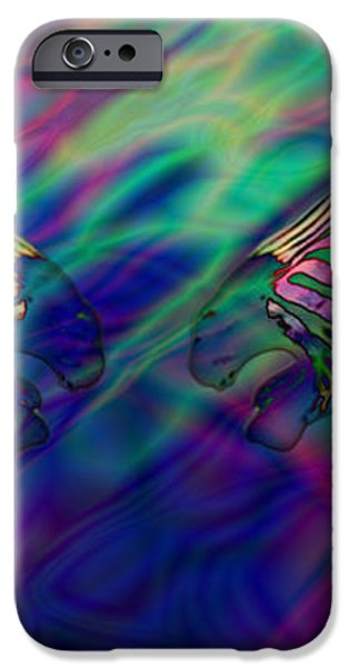 Polychromatic Zebras iPhone Case by Anthony Caruso