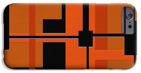 Geometrical Art iPhone Cases - Ponder iPhone Case by Ely Arsha