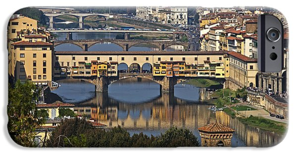 River View iPhone Cases - Ponte Vecchio - Florence iPhone Case by Joana Kruse