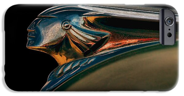 Hood Ornament iPhone Cases - Pontiac Indian Chief iPhone Case by Douglas Pittman
