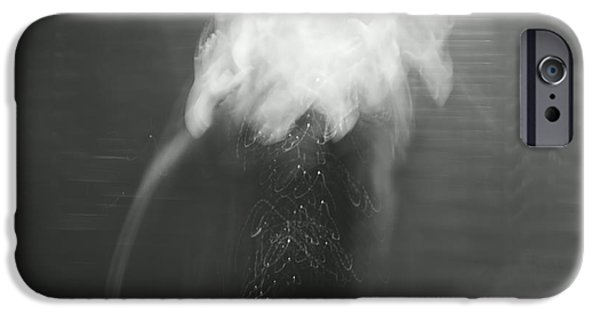 Aimelle Photographs iPhone Cases - Poof - bw iPhone Case by Aimelle