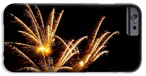 July 4th Digital Art iPhone Cases - Poof iPhone Case by Phill  Doherty