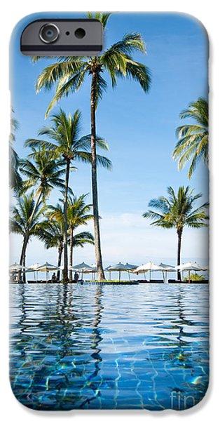 Aqua Condominiums Photographs iPhone Cases - Poolside iPhone Case by Atiketta Sangasaeng