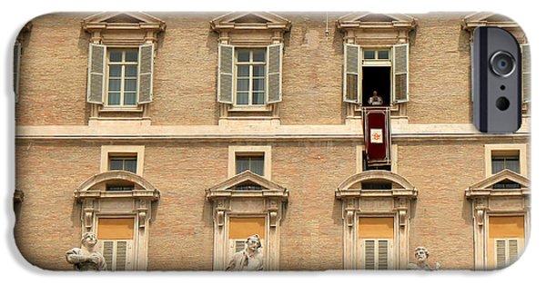 Pope iPhone Cases - Pope Benedict XVI c iPhone Case by Andrew Fare