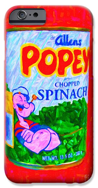 Popeye Spinach iPhone Case by Wingsdomain Art and Photography