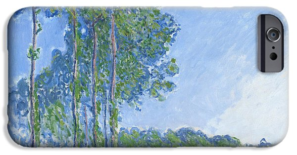 Impressionist iPhone Cases - Poplars iPhone Case by Claude Monet
