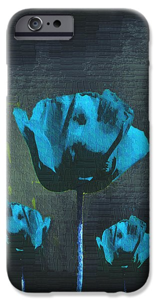 Poppies Fun 01 - Bb iPhone Case by Variance Collections