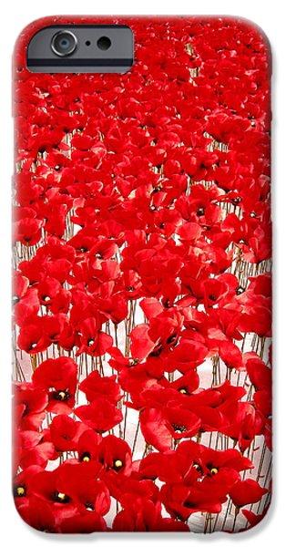 Poppy Meadow ... iPhone Case by Juergen Weiss