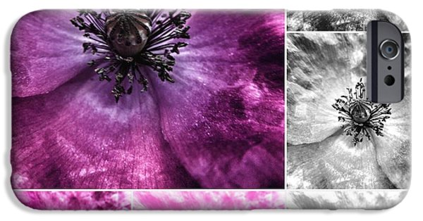 Close Up Floral iPhone Cases - Poppy Purple - Macro Flowers Fine Art Photography iPhone Case by Marianna Mills