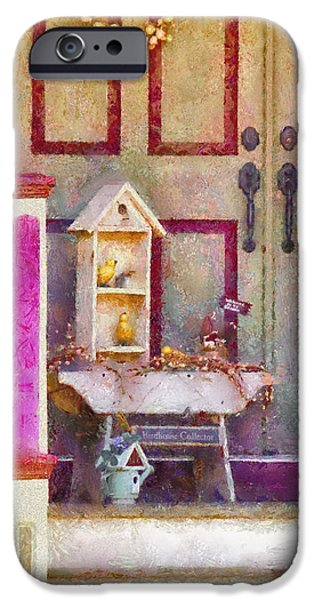 White House iPhone Cases - Porch - Cranford NJ - The birdhouse collector iPhone Case by Mike Savad