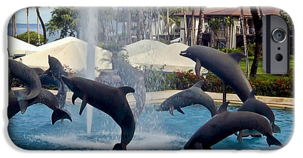 Porpoise iPhone Cases - Porpoise Statues   Maui Hawaii iPhone Case by Jon Berghoff