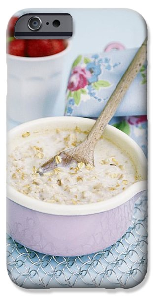 Porridge iPhone Cases - Porridge In A Pan iPhone Case by Veronique Leplat