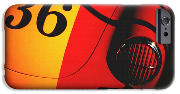 Indy Car iPhone Cases - Porsche 356 Cast Shadow iPhone Case by Curt Johnson