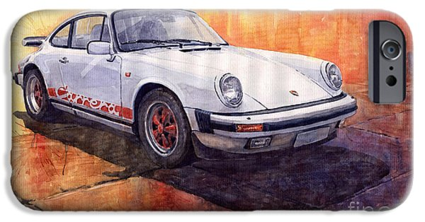 Vintage Cars iPhone Cases - Porsche 911 Carrera iPhone Case by Yuriy  Shevchuk