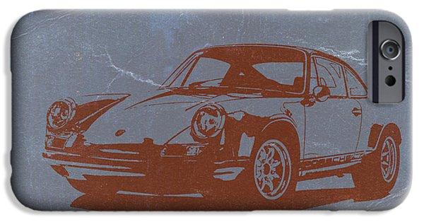 Porsche 911 iPhone Cases - Porsche 911 iPhone Case by Naxart Studio