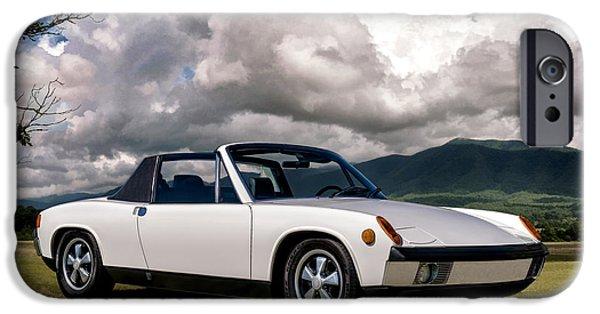 Classic Digital Art iPhone Cases - Porsche 914 iPhone Case by Douglas Pittman