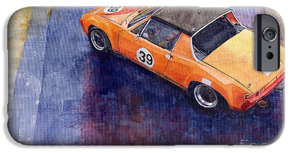 Watercolour Paintings iPhone Cases - Porsche 914 GT iPhone Case by Yuriy  Shevchuk