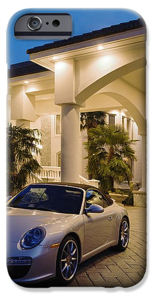 Porsche Parked At Mansion iPhone Case by Roberto Westbrook