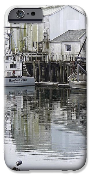 Port of Nahcotta iPhone Case by Pamela Patch
