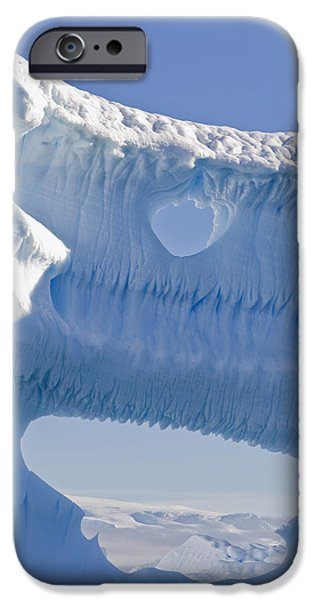 Portion Of A Gigantic Iceberg iPhone Case by Ron Watts