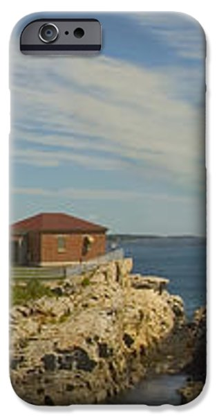 Portland Head Light Panorama  iPhone Case by Mike McGlothlen
