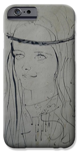 Switzerland Drawings iPhone Cases - Portrait 1971 Colette iPhone Case by Colette V Hera  Guggenheim
