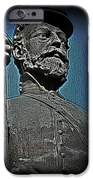 Portrait 30 American Civil War iPhone Case by David Dehner