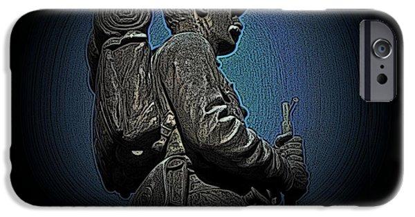 Statue Portrait iPhone Cases - Portrait 31 American Civil War iPhone Case by David Dehner