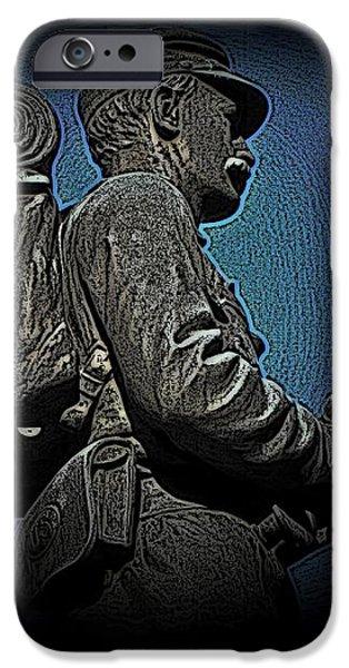Portrait 31 American Civil War iPhone Case by David Dehner