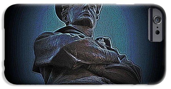 Statue Portrait iPhone Cases - Portrait 33 American Civil War iPhone Case by David Dehner