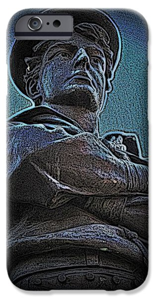 Portrait 33 American Civil War iPhone Case by David Dehner