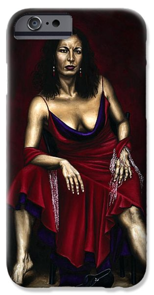 Portrait of a Dancer iPhone Case by Richard Young
