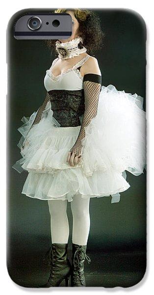 Portrait of a Vintage Dancer Series iPhone Case by Cindy Singleton