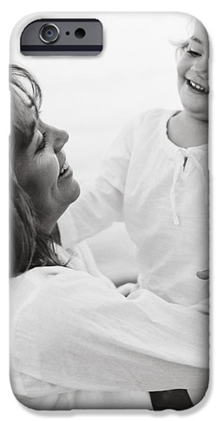 Portrait Of Mother And Daughter iPhone Case by Michelle Quance