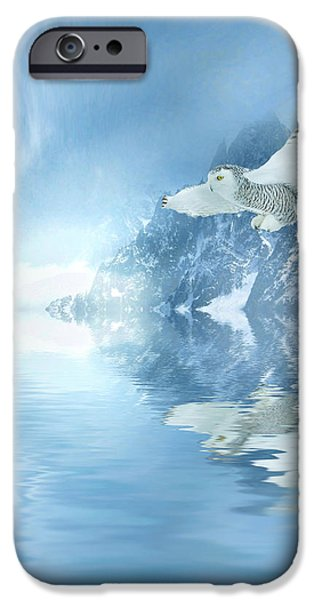Winter Scene iPhone Cases - Portrait of Winter iPhone Case by Sharon Lisa Clarke