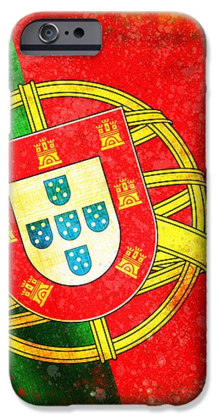 portugal flag  iPhone Case by Setsiri Silapasuwanchai