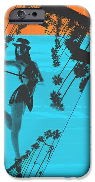 Post Card from LA iPhone Case by Naxart Studio