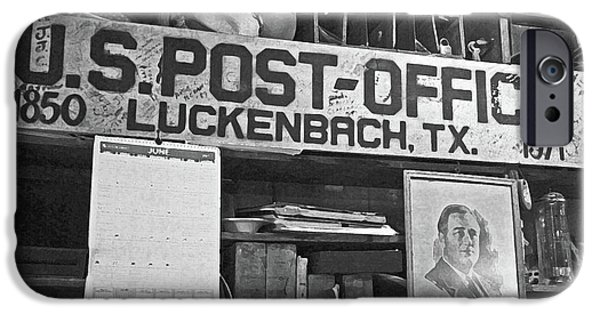 Cubicle iPhone Cases - Post Office  Luckenbach Texas iPhone Case by Joe Jake Pratt