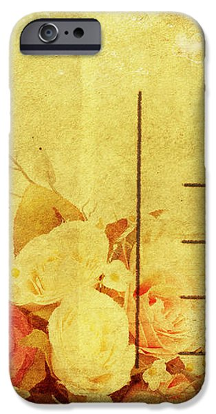 postcard with floral pattern iPhone Case by Setsiri Silapasuwanchai