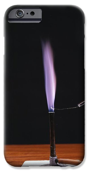 Potassium Flame Test iPhone Case by Andrew Lambert Photography