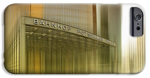 Berlin iPhone Cases - Potsdamer Platz BERLIN I iPhone Case by Melanie Viola