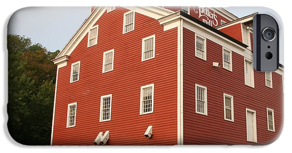 Grist Mill iPhone Cases - Potters Mill - Iowas Oldest Grist Mill iPhone Case by Amelia Painter