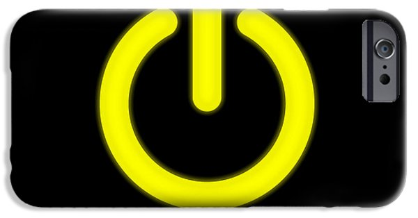 Electrical Equipment iPhone Cases - Power On Sign iPhone Case by