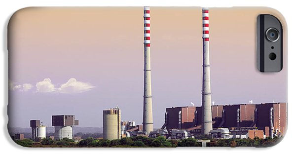 Buildings iPhone Cases - Power Plant iPhone Case by Carlos Caetano