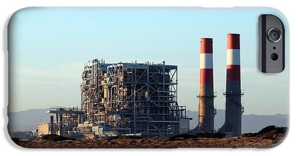 Oil Pollution iPhone Cases - Power Station iPhone Case by Henrik Lehnerer