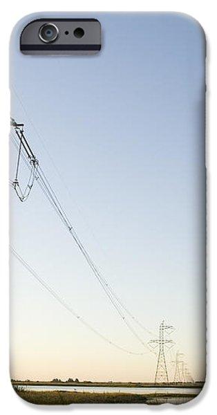 Powerlines Jepson Prairie Preserve iPhone Case by Sebastian Kennerknecht