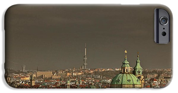 St Nicholas iPhone Cases - Prague - A symphony in stone iPhone Case by Christine Till