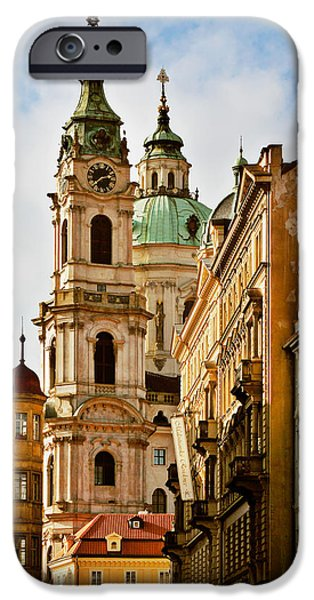 Prague - St. Nicholas Church Lesser Town iPhone Case by Christine Till