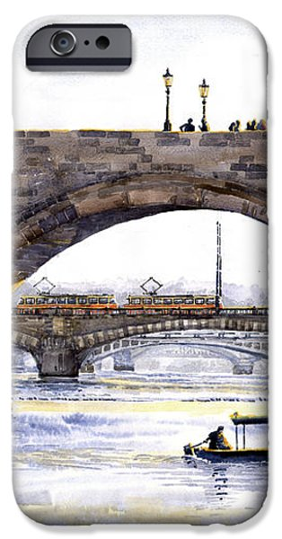 Prague Bridges iPhone Case by Yuriy  Shevchuk
