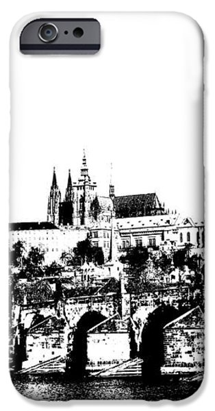 Prague castle and Charles bridge iPhone Case by Michal Boubin